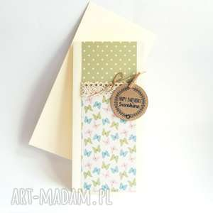 urodzinowa kartka handmade motylki, motyle, urodziny kartki