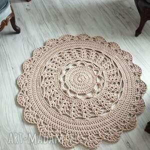 dywan okrągły ze sznurka bawełnianego 90cm, dywan, sznurka