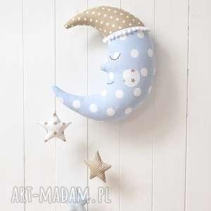 księżyc - księżyc, gwiazdki, gwiazdy, poduszka, karuzela, dekoracja