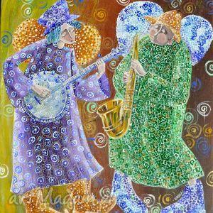 Muzycy 5, anioł, anioły, orkiestra