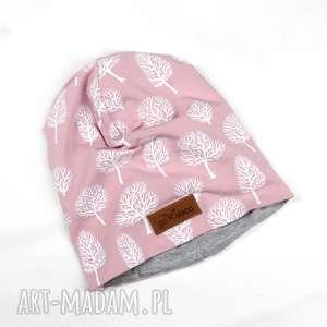ręczne wykonanie czapki czapka beanie pudrowy róż