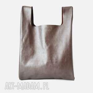 torba minimo, skóra, ręcznie, torba, szyta, uszyta, pod choinkę prezent