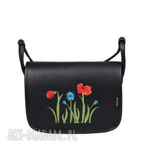 Skórzana torebka z haftem folk słoń torbalski 00 -681 -0101-e30