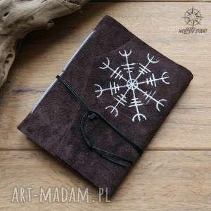 notesy notes a6 ze skórzaną miękką okładką aegishjalmur - ręcznie robiony