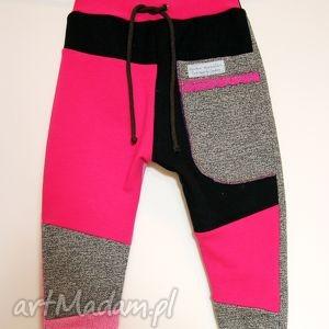 ubranka patch pants - eco spodenki dziecięce różowe, spodnie, dres, wygodne