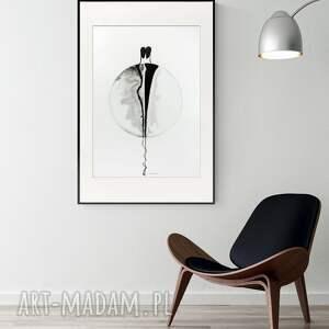 obraz ręcznie malowany 50 x 70 cm, nowoczesna abstrakcja, 2917099