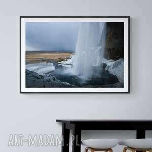 plakat 70x 50 wodospad seljalandsfoss, dekoracje, wnętrze, islandia