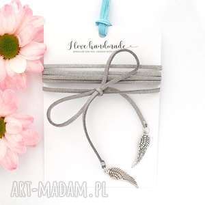 unikalny prezent, srebrny choker - silver wing, naszyjnik, choker, skrzydła, wings