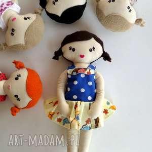 mała LALA - włosy brązowe, lala, lalka, szmacianka