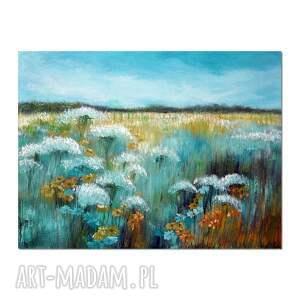 aleksandrab letnie pola, obraz ręcznie malowany, obraz, ręcznie, malowany