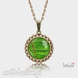 naszyjniki medalion okrągły mały liść, motyw, roslinny, drzewo, kwiaty, prezent