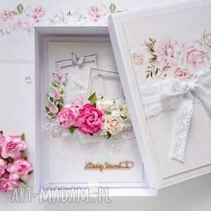 kartka a5 na ślub w pudełku - kartka na ślub, kartka ślubna