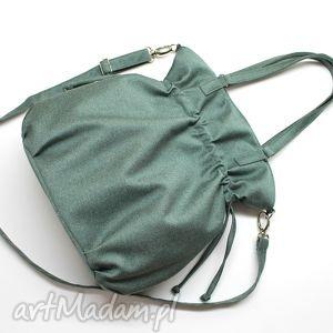 hobo sack - sakiewka tkanina zielona, elegancka, nowoczesna, prezent, hobo, sack