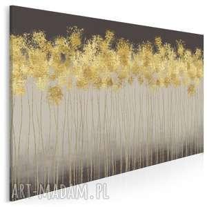 Obraz na płótnie - abstrakcja złoty 120x80 cm 69501 vaku dsgn