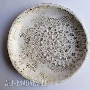 ceramika misa pieprz i koronka, ręcznie wykonana, rękodzieło