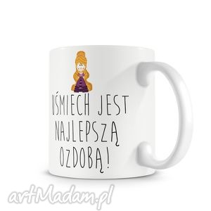 kubki kubek - uśmiechnięta, księżniczka, piękna, kawa, kubek, prezent