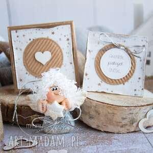 Aniołek pięknych snów personalizowana mini kartka, pudełeczko