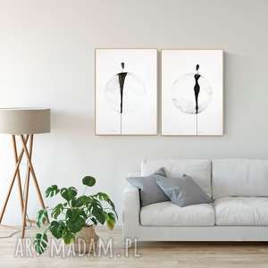 zestaw 2 obrazów 50 x 70 cm - malowanych ręcznie z cyklu about real