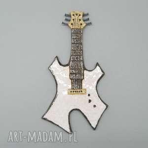 ceramika gitara rokowa ii, dekoracja, wnętrze, prezent, ceramika, metal