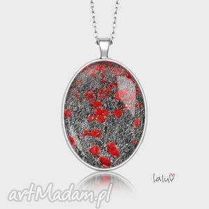 medalion owalny pole makowe, maki, ludowe, kwiaty, prezent, rękodzieło, grafika
