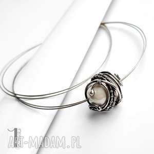 Prezent Bianco IX naszyjnik srebrny z perłą majorka , perła