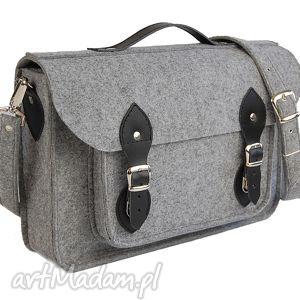 ręcznie robione filcowa torba na laptop 15 - personalizowana grawerowana dedykacja