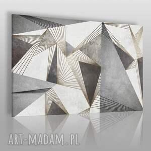 vaku dsgn obraz na płótnie - abstrakcja industrialny linie kształty 120x80 cm 83101