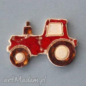 oryginalny prezent, kopalnia ciepla traktorek-magnes ceramiczny, przezent, dodatek