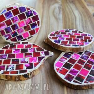 podkładki drewniane - mozaika 6, mozaika, drewniane, decoupage, kubek