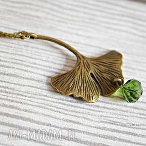miłorząb japoński naszyjnik - miłorząb, japonia, liść