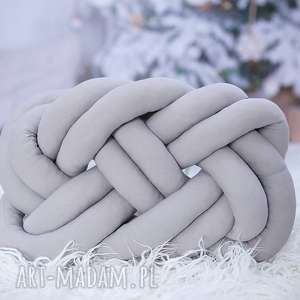 poduszki ręcznie pleciona dekoracyjna poduszka supeł precel knotpillow 50x40