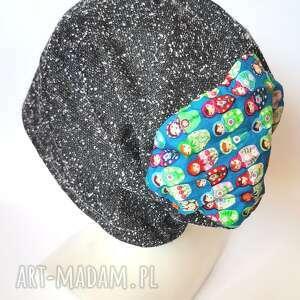 czapki czapka damska codzienna kolorowa rozmiar na większą głowę 59-62 bez