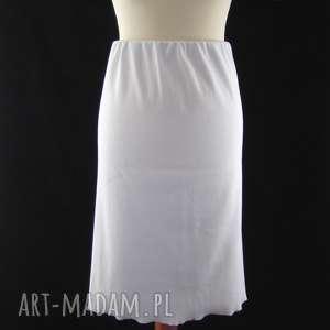 ręczne wykonanie spódnice biała spódnica dzianinowa