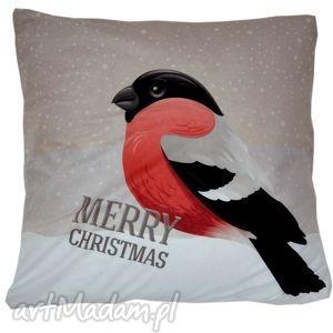 wyjątkowy prezent, poduszka dekoracyjna gil, dekoracyjna, zimowa, świąteczna