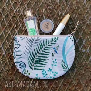 paprotkowa kosmetyczka półksiężyc - ,kosmetyczka,las,góry,paprotki,paprotka,leśna,