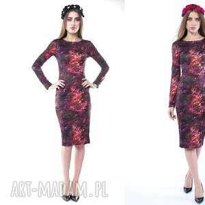 pani jesień - ołówkowa sukienka, dopasowana, wygodna, oryginalna