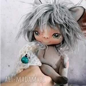 chochlik z lasu - lalka kolekcjonerska figurka tekstylna ręcznie szyta