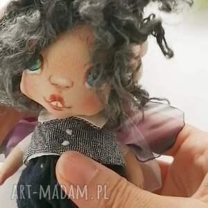 dekoracje aniołek wróbelek - zawieszka figurka tekstylna ręcznie szyta