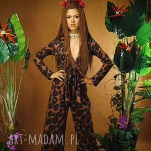 sukienki harry - kombinezon w panterkę, kombinezon, panterka, kopertowy