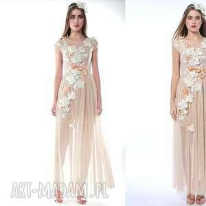 ślub królowa bajka - ręcznie haftowana suknia ślubna