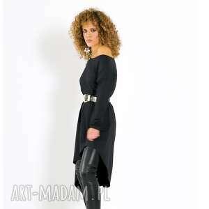 milita nikonorov tina - asymetryczna sukienka, asymetryczna, luźna, kimonowa