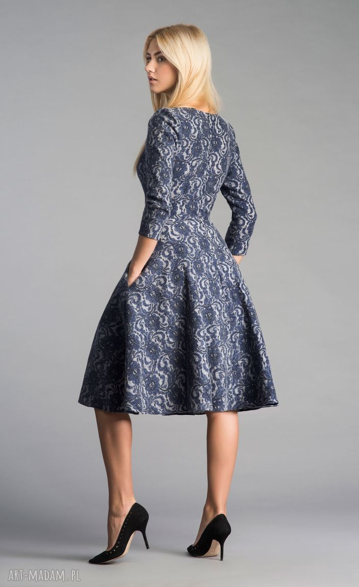 koronka sukienki sukienka fler midi tamara