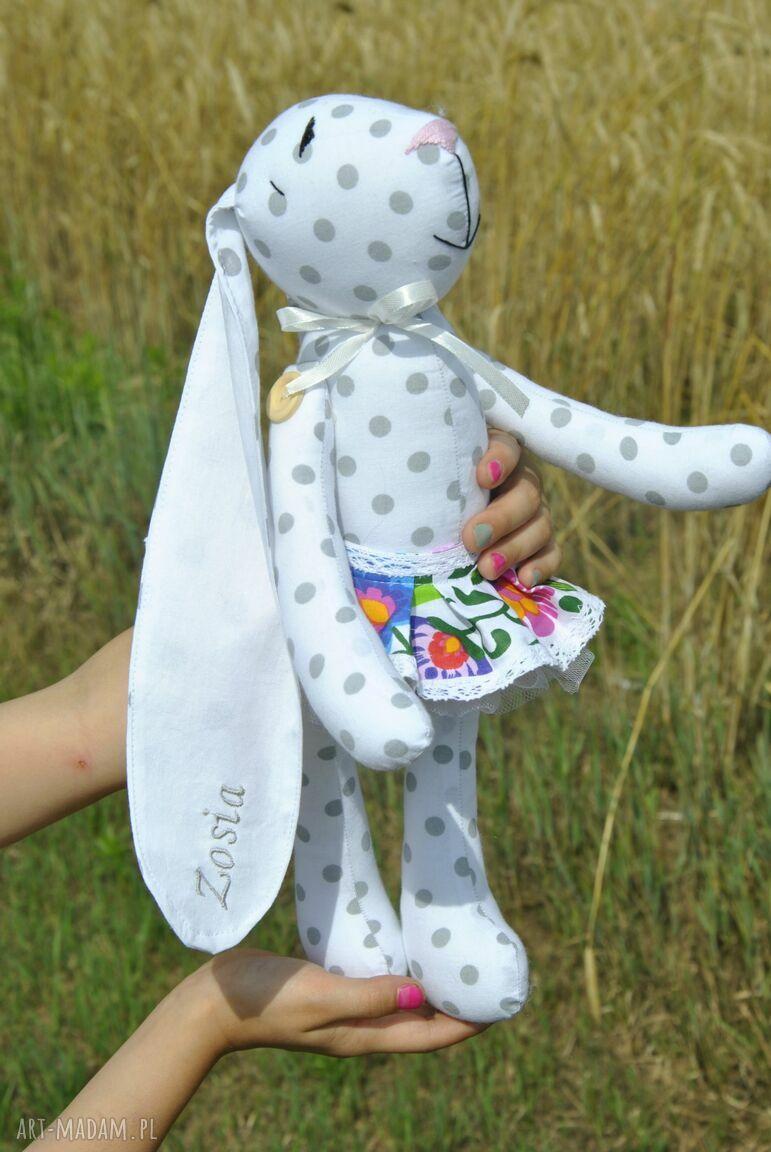 ręcznie robione maskotki łowicka króliczka
