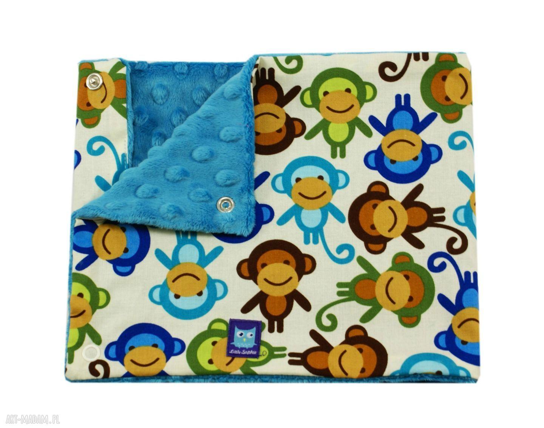 ręcznie wykonane zabawki małpki komplet na prezent, wzór