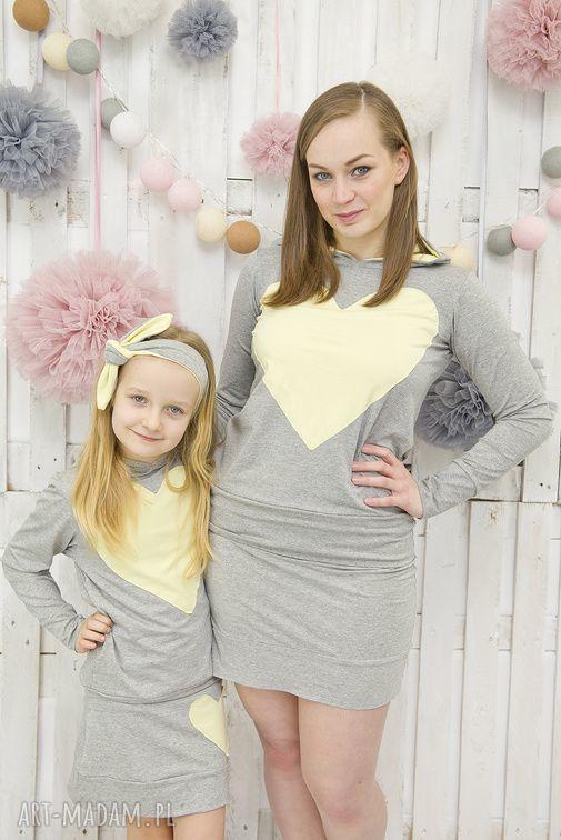 ubranka odzież komplet mama i córka spódnica plus
