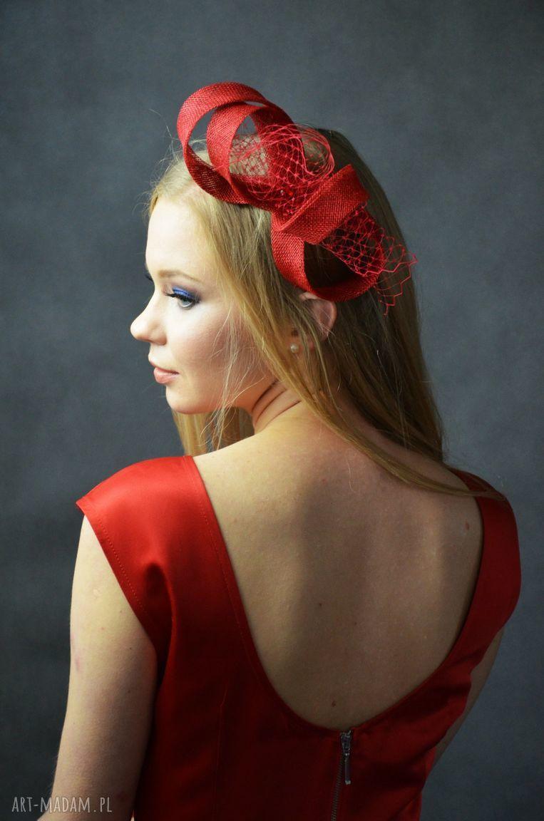 niesztampowe ozdoby do włosów czerwony zawijas
