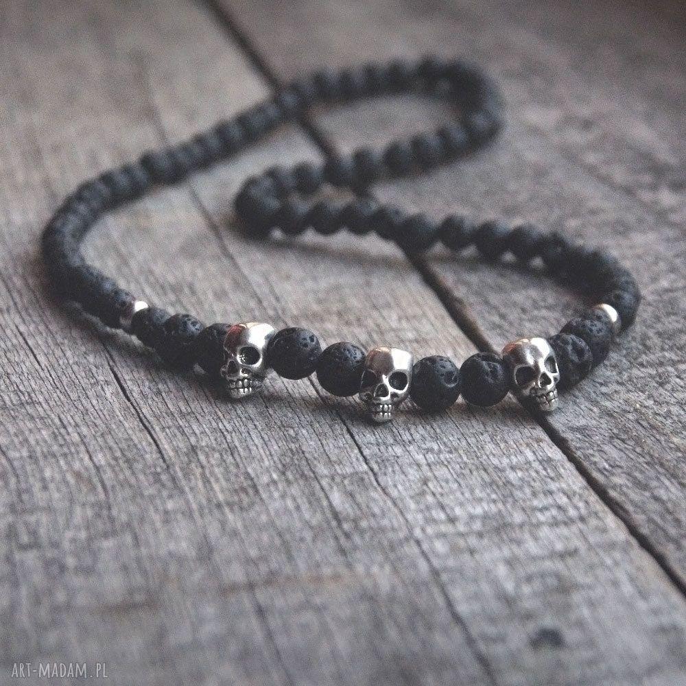 unikatowe męska naszyjnik męski :: black lava &