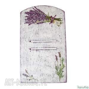 lawendowa - deseczka pod kalendarz - dekoracja, prowansja, prezent, zrywak