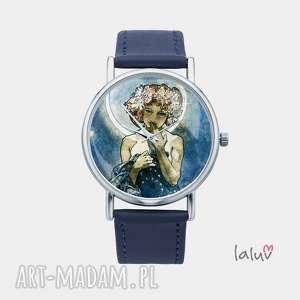 zegarek z grafiką moon a mucha - alfons, sztuka, obraz, reprodukcja, księżyc