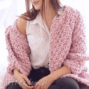 swetry heather chunky, sweter, dziergany, druty, gruby